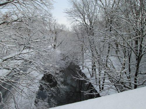 A snowy morning in Boston.