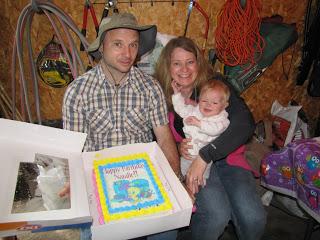 Birthday Cake in the rain
